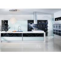 Shaped Plywood Carcase Lacquer Kitchen Cabinets With Quartz Stone