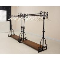 Industrial design style customized wooden with iron racks