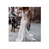 Buy cheap Fashion Mermaid Wedding Dress Deep V Neck Sleeveless Backless Beading from wholesalers
