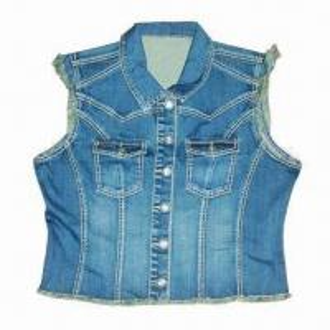 China Women's Vintage Denim Vest on sale