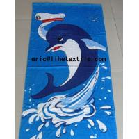 Wholesale 100% cotton reactive printed beach towel 30X60'' GSM350 400 from china suppliers