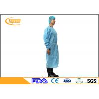 Wholesale Blue PP Nonwoven Surgical Disposable Medical Gowns With Kniting Cuff from china suppliers