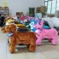 China Hansel coin operated mechanism electric dog walking machine moving horse toys for kids electric motor go kart on sale