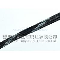 China PC Wire Abrasion Resistant Sleeving For Wire Cover , PET Braided Expandable Sleeving on sale