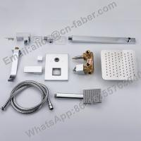 Wholesale Two Function Concealed Bath Shower Faucet, Wall mounted bathroom embedded concealed brass square shower mixer tap set from china suppliers