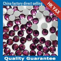 Wholesale high quality hot fix crystal stone,crystal rhinestone for garment,hotfix crystal stone from china suppliers