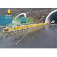China Removable Rolling Guardrail Barrier Anti Rust , Highway Roller Barrier on sale