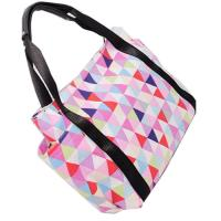 Wholesale Portable Colorful Polyester Tote Bags With Leather Handle Custom Made from china suppliers