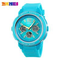 small blue analog digital wrist 5atm water resistant
