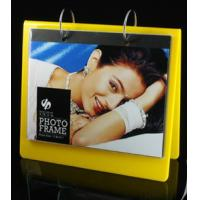 Wholesale calender style acrylic block photo frame yellow from china suppliers