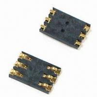 Wholesale SIM Card Connector with 6-pin and SMT Type, Used in Cellular Phones and MP3 from china suppliers