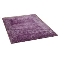 China Purple Polyester Shaggy Pile Rug, Luster Luxury Soft Pile Rugs, Floor Area Carpet on sale