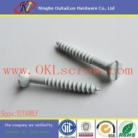 Wholesale Ceramic Coating Slotted Countersunk Head Wood Screws from china suppliers