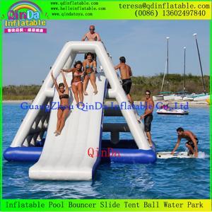Wholesale Best Sale Qinda Inflatable Floating Water Slide Adults Inflatable Water Slide from china suppliers