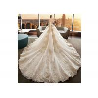 Wholesale Puff Long Ball Gown Beaded Wedding Dresses Plus Size Soft And Romantic from china suppliers