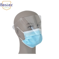 Wholesale Non Woven Superfine Fiber Disposable Face Mask With Eye Shield from china suppliers