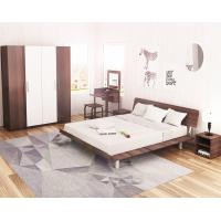 Wholesale Simple Japanese tatami type bed 1.5 meters MDF with metal double bed and 1.8 single bed 1.2 modern creative walnut color from china suppliers