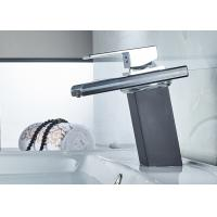 Wholesale Polished Chrome LED Bathroom Sink Faucet ROVATE Waterfall Glass Spout from china suppliers