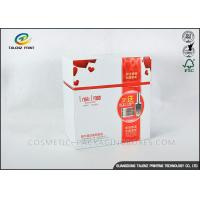 China Small Sized Cosmetic Packaging Boxes Bio - Degradable 190gsm 210gsm White Card Paper on sale