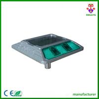 Solar Road Marker Aluminium Double-sided Green Reflector