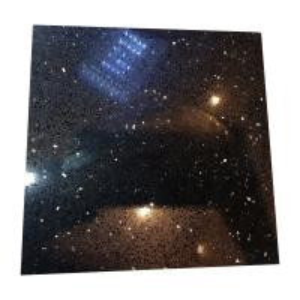 Wholesale Black Galaxy Artificial Quartz Stone Slabs , Black Galaxy Quartz Countertop from china suppliers