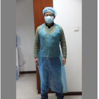 Wholesale DISPOSABLE plastic pe apron in white or blue color, single packing or colord box packing from china suppliers