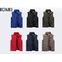 Wholesale Winter Orange Down Vest Custom Jackets Winter Vest Polyester / Pad Material from china suppliers