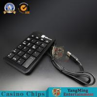 Wholesale Slim Baccarat Gambling Systems USB Number Keyboard Black Plastic Wired Keyboard Table System from china suppliers