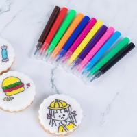 Wholesale Kids Fun DIY Cookies Fine Point Edible Marker Pen Mini Size 9 Colors from china suppliers