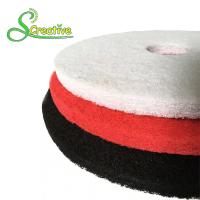 China Polyester Polishing Pad For Dry Concrete , Marble Floor Cleaning Pad Wear Resistant on sale