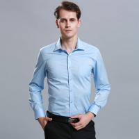 Wholesale Spring Fashion Custom Business Shirts / Men Casual Work Long Sleeve Shirts 60% Cotton from china suppliers