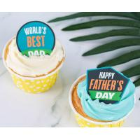 Wholesale Icing Sheet Edible Sugar Toppers Father'S Day Pre - Printing And Die Cut from china suppliers