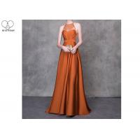 Wholesale Orange A Line Ball Gown Colorful Heavy Beading Floor Length See Through Style from china suppliers