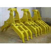 Wholesale Yellow Color Excavator Rotating Grapple For Rock Grab High Performance from china suppliers