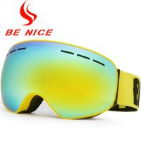 Quality Big Vision Dual Lens Ski Goggles , Mirrored Snow Goggles For Night Skiing for sale