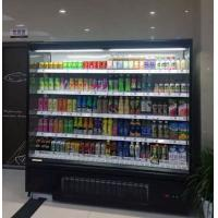 Heavily Loaded Shelf Open Display Fridge , Open Chiller Supermarket Showcase