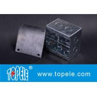 Steel Square Junction Box , Electrical Boxes And Covers For Lighting Fixtures