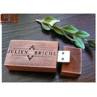 Wholesale wooden usb 8/16 /32 gb flash drive burlywood handmade wooden USB  Walnut, Leather, Coak from china suppliers