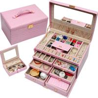 Wholesale Jewelley Professional Case Display Tray PVC Leather Jewellery Box Pandora Jewelry Box from china suppliers