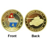 Wholesale Hot New 24K Gold Plated Coin 30-year Anniversary Commmemorative Coin For Liberation Of Lest We Forget Custom from china suppliers
