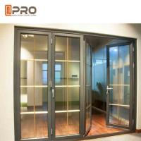 Wholesale Horizontal Aluminum Folding Doors For Kitchen With Double Tempered Glass from china suppliers