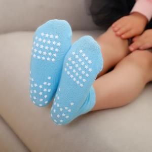 China Fashionable Knitting Slip Resistant Socks , Jacquard Logo Non Slip Dance Socks on sale