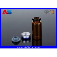 Wholesale Tubular Miniature Glass Bottles Blue Amber Glass Bottles With Secure Rubber Lids from china suppliers