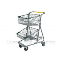 China YLD-MT073-1F Two Basket Shopping Cart,Two Basket Shopping Cart Exporter,shopping trolley,Shopping Trolley Manufacturer on sale