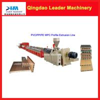 ... PVC+wood two layer co-extrusion Wood plastic composites making machine