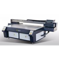 China LED UV Ink Wide Format Flatbed Printer , Flatbed Inkjet Printer For Decoration Industry on sale