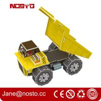 Wholesale Dump truck 3D puzzle car model kits DIY toys for boy , 3d puzzle truck from china suppliers