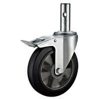 Wholesale Aluminium Swivel Scaffold Tower Wheels / Small Black 8 Scaffold Casters from china suppliers