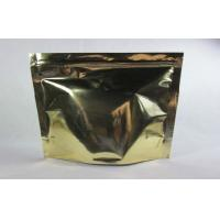 China Aluminum Foil Coffee Bag Packaging Zipper Top Gravure Printing , One Side Clear on sale