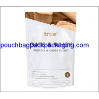 Wholesale Stand up pouch with zip lock, stand up bag, doypack for powder packaging 454g 16OZ from china suppliers